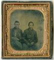 Tintype of two unknown Federal soldiers