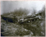 Photograph of 1912 train wreck of Confederate Veteran Special