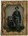Tintype of a Union soldier as a boy and as a drummer