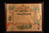 Membership certificate in the Confederate Soldiers Association