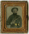 Ambrotype of Pvt. John Boyd Brown