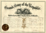 Grand Army of the Republic (GAR) certificate