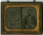 Tintype of Daniel Hoge Bruce and wife, Virginia