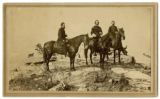 Carte de visite of three Union officers atop Lookout Mountain