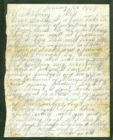 Letter from Confederate Wiley Bartlette at Vicksburg