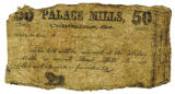 Bank Note from Palace Mills, Columbus, Geo.