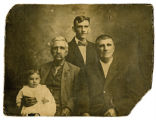 Photograph of four generations of the Scott family of Henry County, Tennessee
