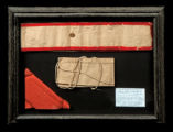 framed money belt, sash, handkerchief