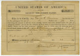 Federal Direct Tax receipt from Civil War