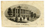 Engraving of original Union University in Murfreesboro