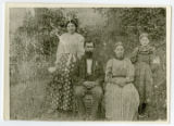Copy of a photograph of James W. Webb and his family