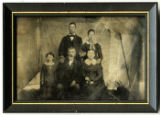 Tintype of Confederate veteran James Calvin Carnahan and his family