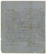 Letter from Confederate soldier John Lafayette Lemonds