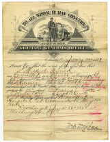 Affadavit of Civil War service for Pvt. Michael Wyrick