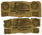Bank of Tennessee Fifty Cents Notes dated 1861