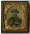 Unidentified cased tintype of a Federal cavalryman