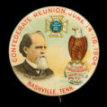 Nashville Confederate reunion button