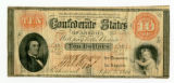 Confederate currency, $10.00