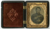Tintype of James Atkins Lauderdale, Co. B, 8th Tennessee Infantry Regiment, USA
