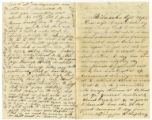 Letter from Corporal Lorenzo Dow Atwood to his wife