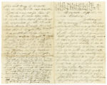 Letter from Corporal Lorenzo Dow Atwood to his wife Cordelia