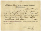 Bill of Health for Private John Leadford