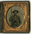 Tintype of Jesse Washington Carmack, Co. F, 8th Tenn. Inf. Regt., CSA