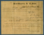 Parole of Major James Howell Jones, 1st Cav. CSA