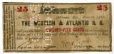 Western & Atlantic Railroad 50-cent note