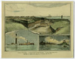 Illustrations from Harper's Weekly of Mobile Bay during the Civil War