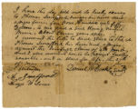 Slave bill of sale for a girl named Maria