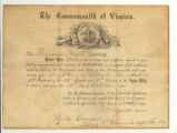 Commission Certificate for Benjamin Haught