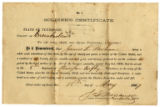 Soldier certificate of James L. Parham, Co. A, 8th Tenn. Inf. Regt., USA
