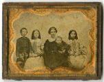 Hand-tinted ambrotype of family group