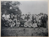 Photograph of group of Haywood County Confederate veterans