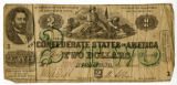 Confederate two dollar bill dated 1862