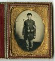 Tintype of Cpl. Charles Ward, Co. E, 60th Ind. Inf. Regt., USA