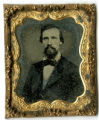 Ruby glass ambrotype of an unidentified man in a mid-19th century suit