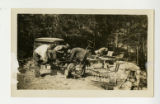 Mechanic and African American Civilian Conservation Corps Men Working on Chevrolet Truck