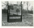 Civilian Conservation Corps sign in Bledsoe State Forest
