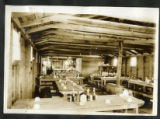 Camp Sam Houston dining area in mess hall