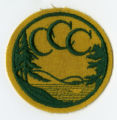 Civilian Conservation Corps insignia patch, yellow