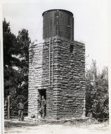 Water tank built by Civilian Conservation Corps at Pickett State Forest