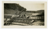 Civilian Conservation Corps building Big Ridge Dam