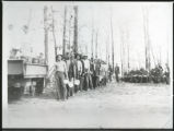 """Chow line"" at Pikeville Civilian Conservation Corps Company 1466 Camp"