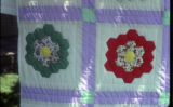 Grandmother's Flower Garden quilt detail