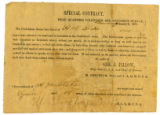 Special contract with H. M. Blake for the employment of his slave, Squire, as a teamster with the...