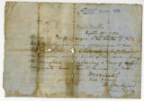 Military pass for William Ferguson and John Branham