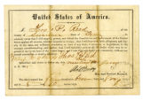 Certificate of release and oath of allegiance