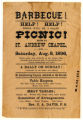 """Grand Picnic,"" handbill for St. Andrew Chapel program"